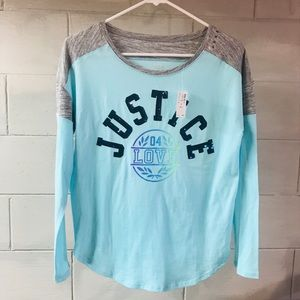 New JUSTICE Girls Shirt Size 14 NWT $27 MSRP